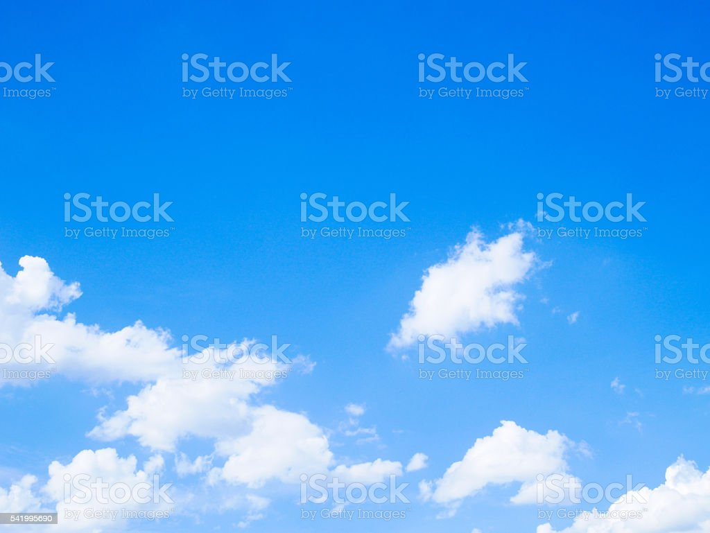 Blue skies and clouds stock photo