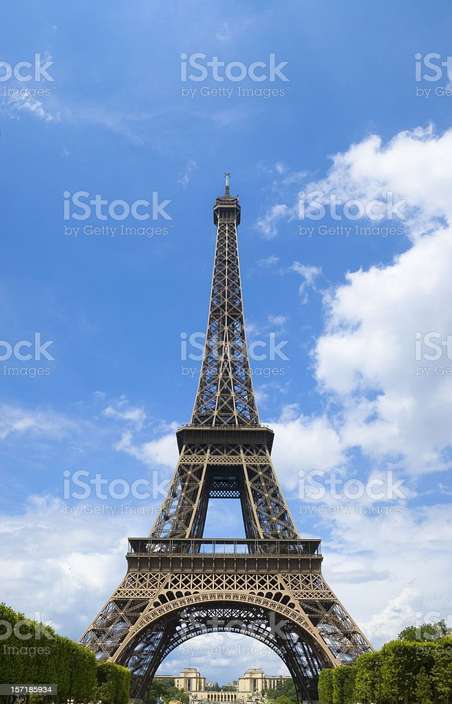 Blue skies behind the Eiffel Tower, Paris royalty-free stock photo
