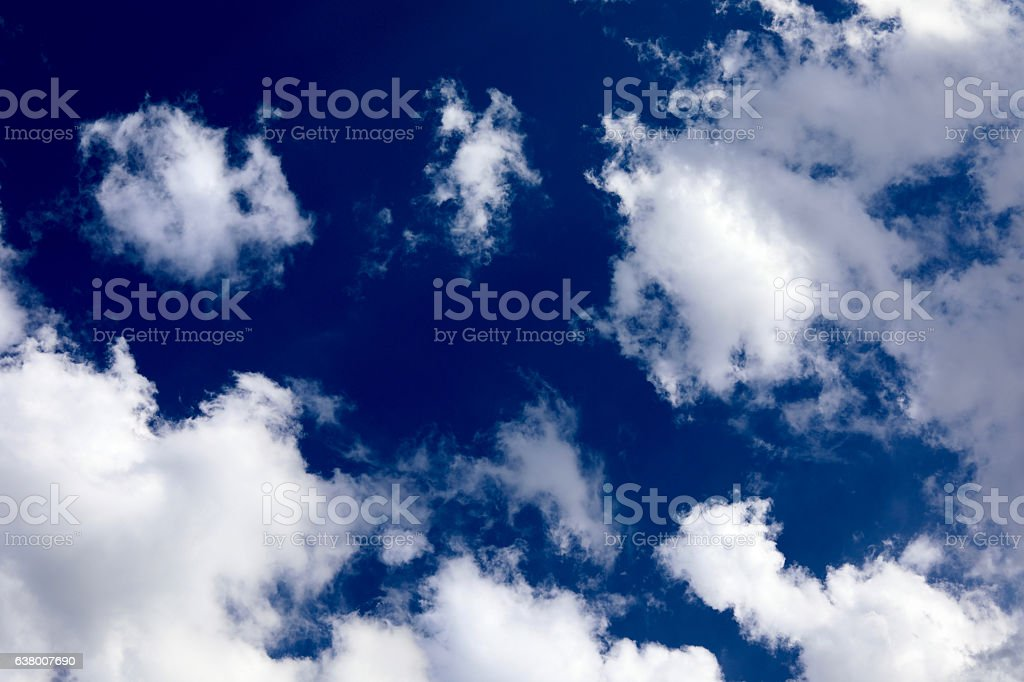 Blue skies. stock photo