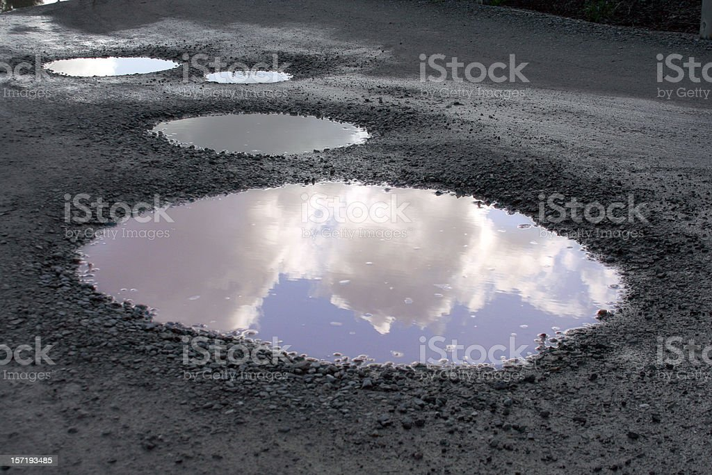 Blue Skies Reflected After the Rains stock photo