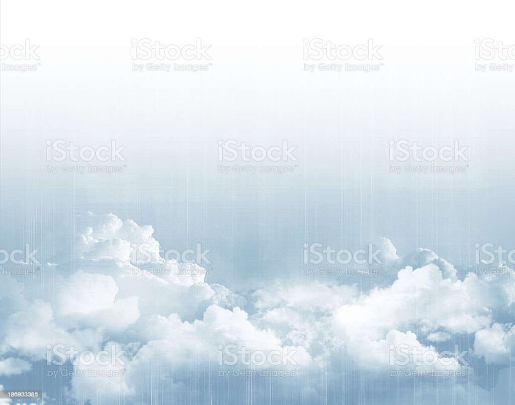 Blue sky above clouds royalty-free stock photo