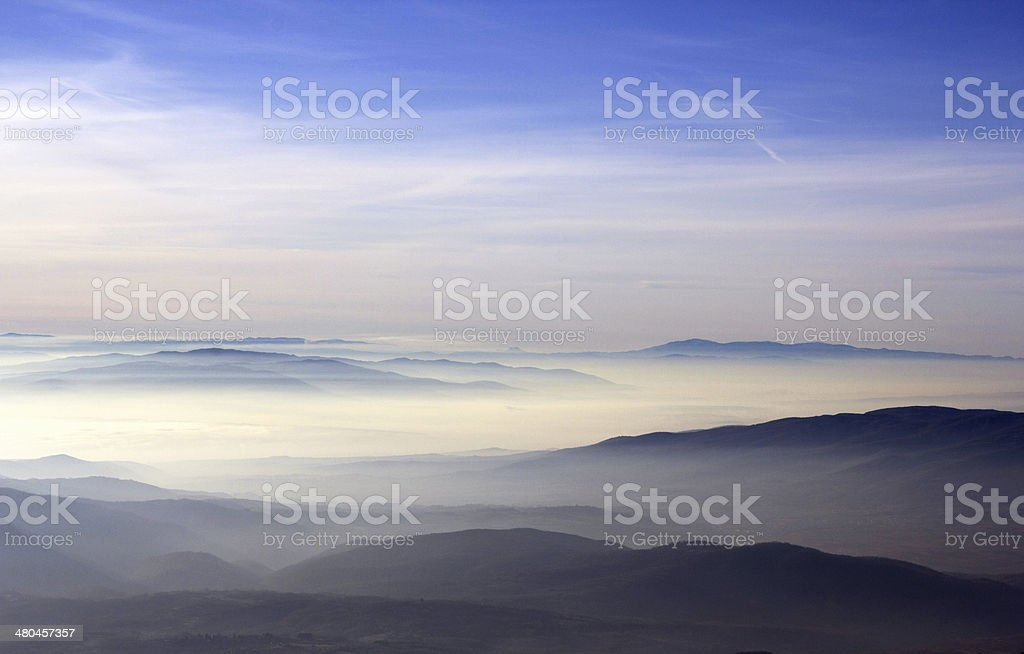 blue sky above mountain royalty-free stock photo
