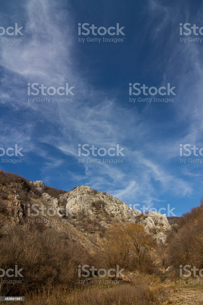 blue sky above rocks royalty-free stock photo