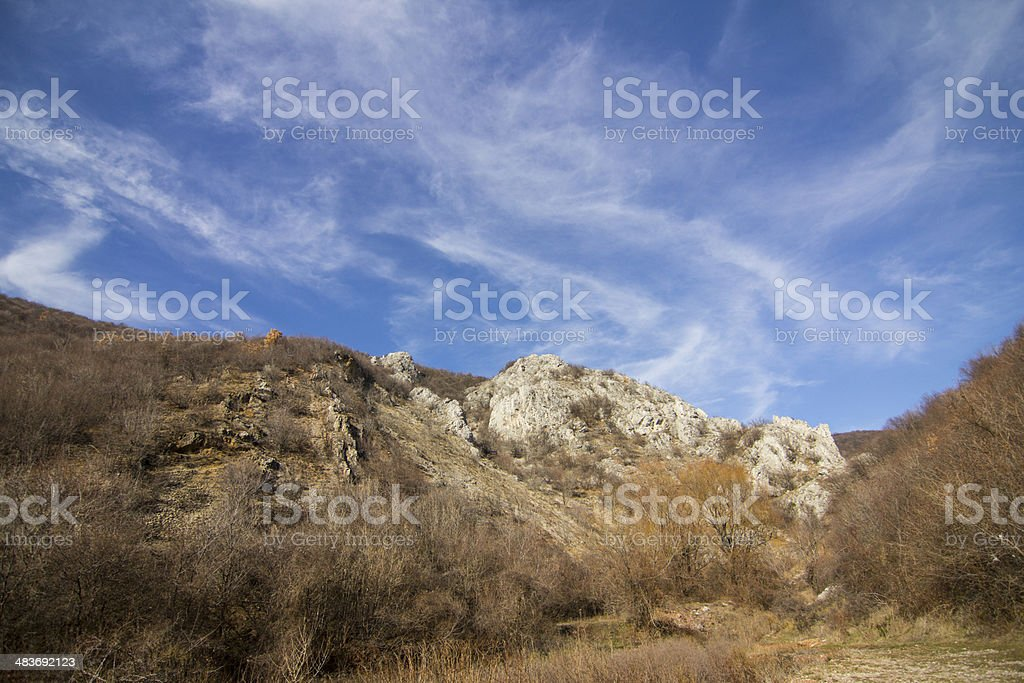 blue sky above rocks royalty-free stock photo