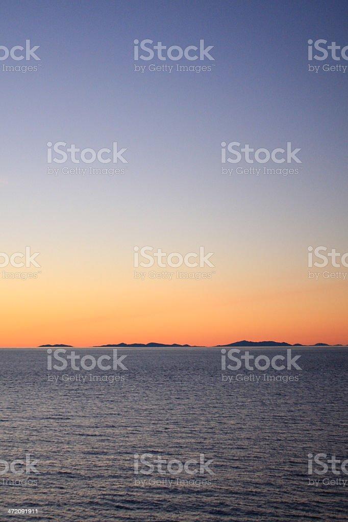 Blue sky - Alaska stock photo