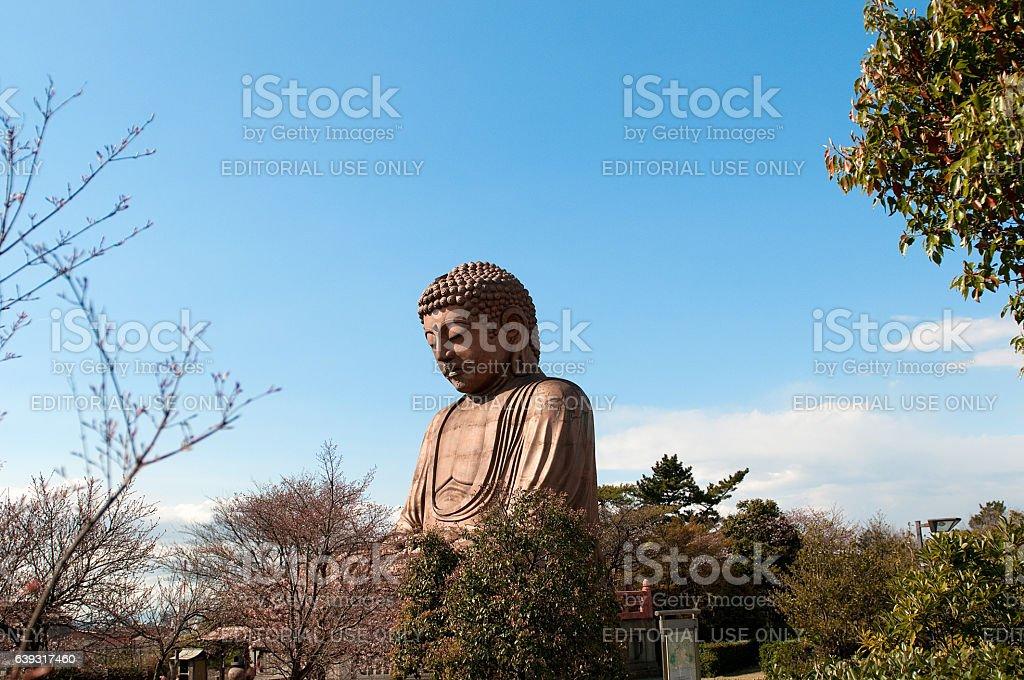 Blue Sky and Big Buddha stock photo