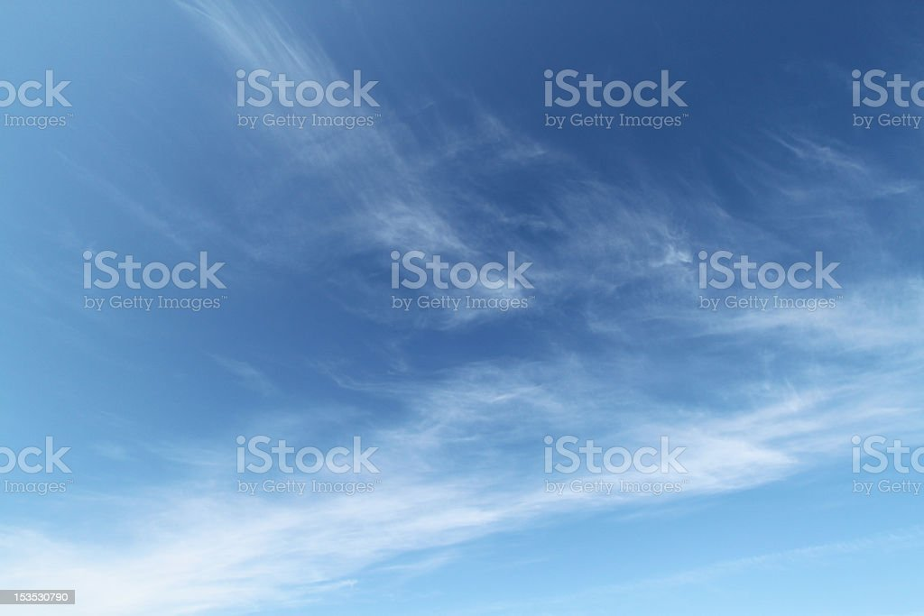 Blue sky and cirrus clouds royalty-free stock photo
