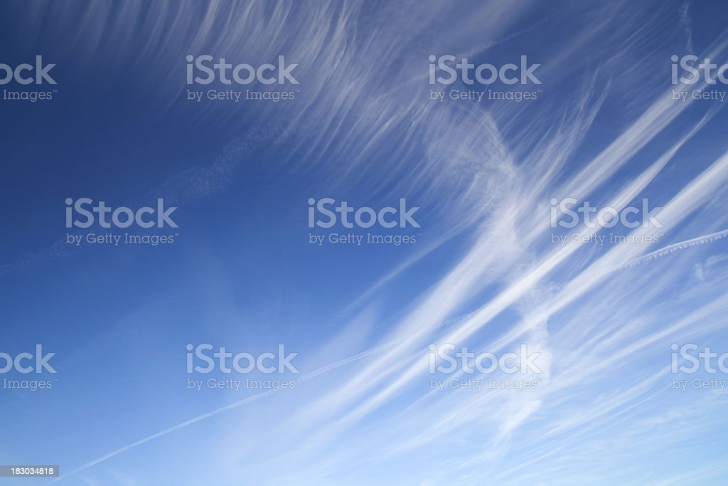 Blue Sky And Cirrus royalty-free stock photo