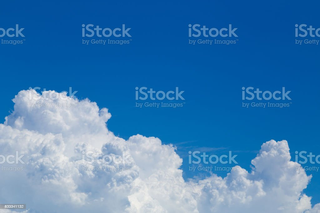 Blue sky and cloud at Haneda Airport stock photo