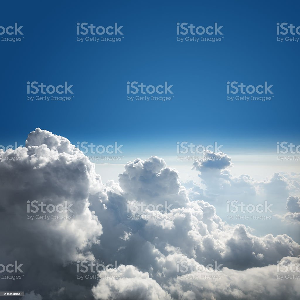 Blue sky and cloud background stock photo