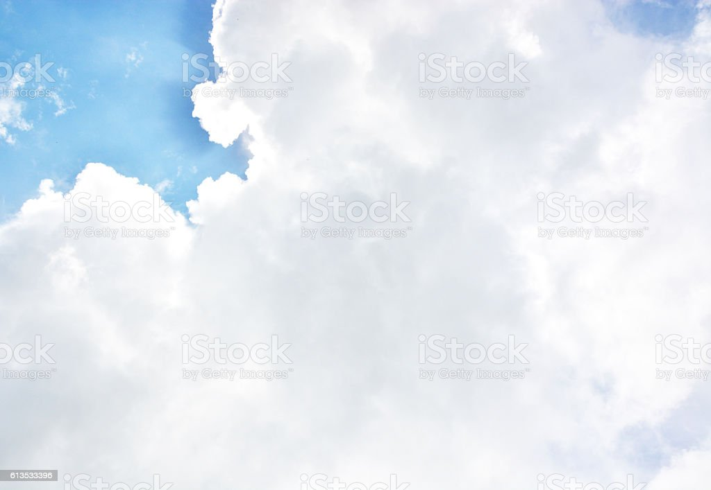 Blue sky and clouds abstract royalty-free stock photo