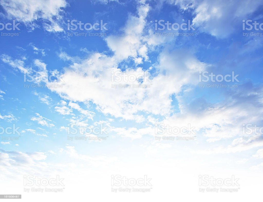A blue sky and clouds background royalty-free stock photo
