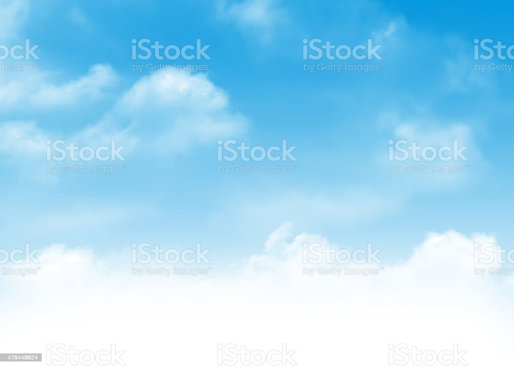 Blue sky and clouds background stock photo