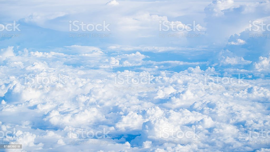 Blue sky and clouds. background. Sky background / Blue Sky and Clouds stock photo