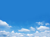 Blue sky and clouds blank