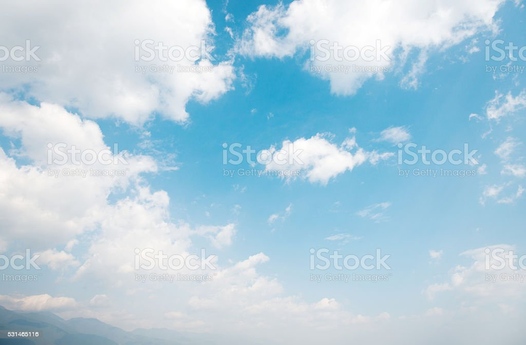 Blue sky and clouds for background stock photo