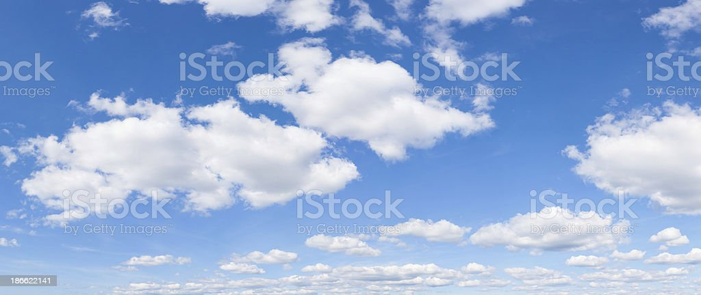 blue sky and clouds (159 Megapixel) royalty-free stock photo