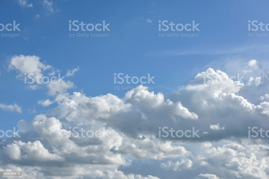 blue sky and clouds stock photo