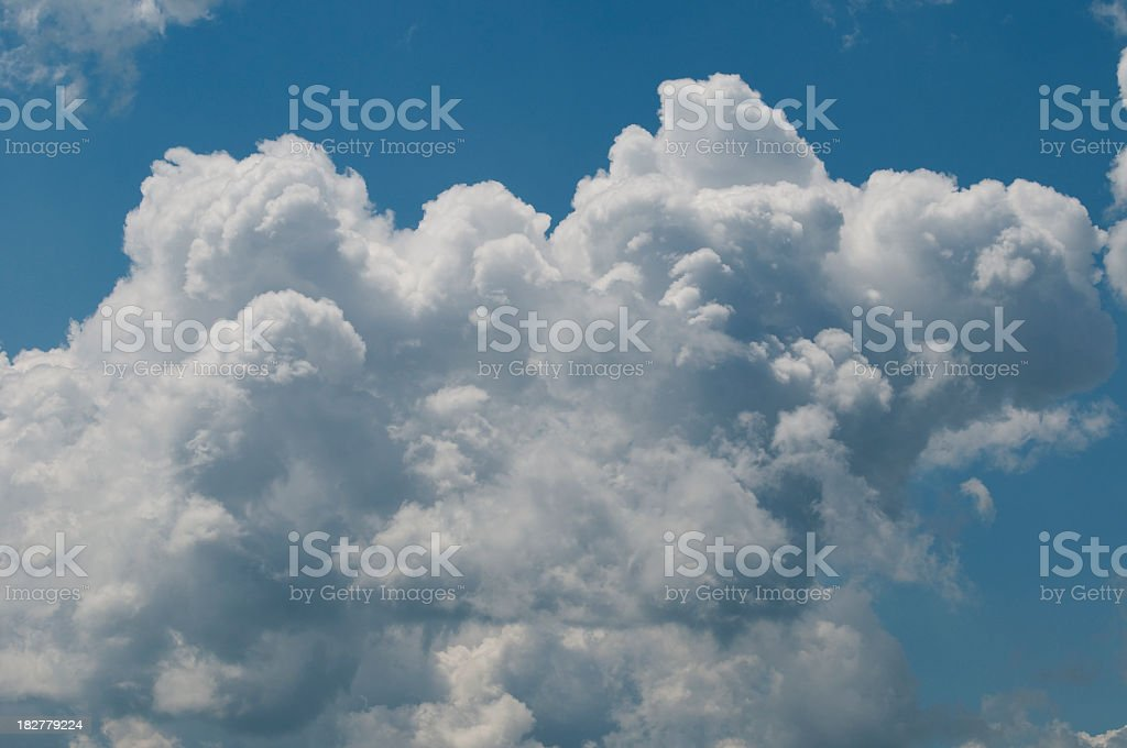 Blue sky and clouds series royalty-free stock photo