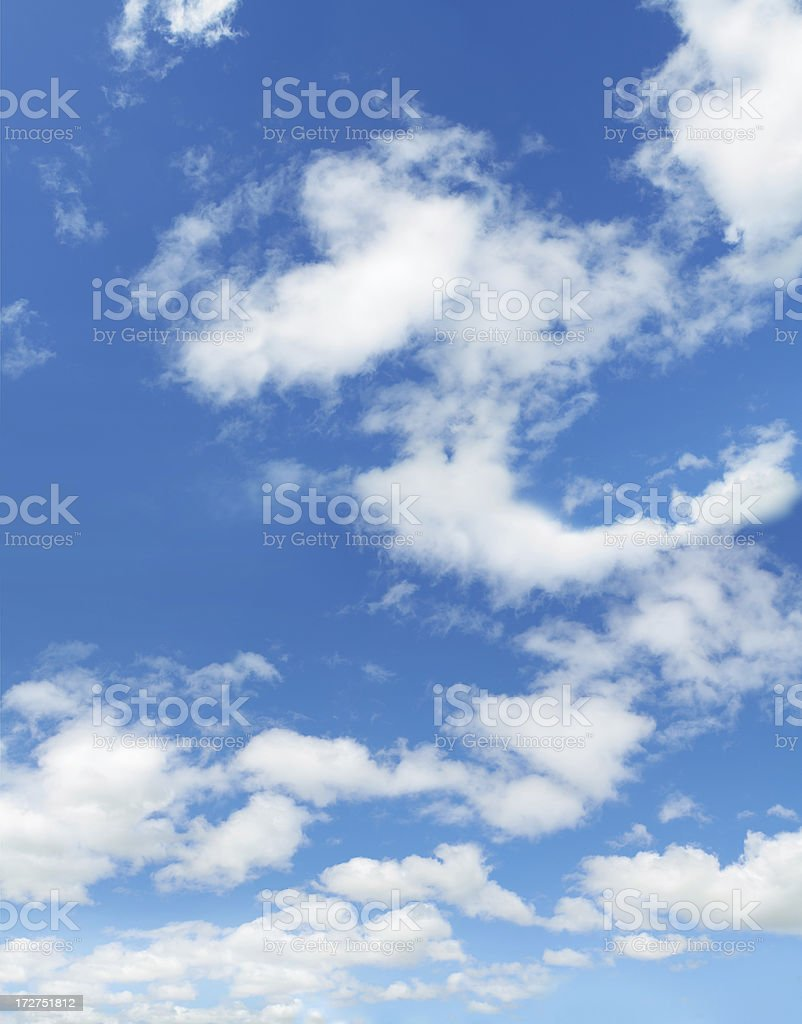 blue sky and clouds XXL royalty-free stock photo