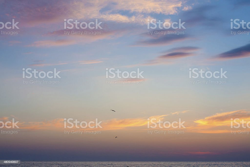 blue sky and dark clouds royalty-free stock photo