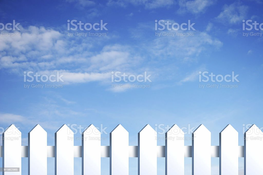 blue sky and fence royalty-free stock photo