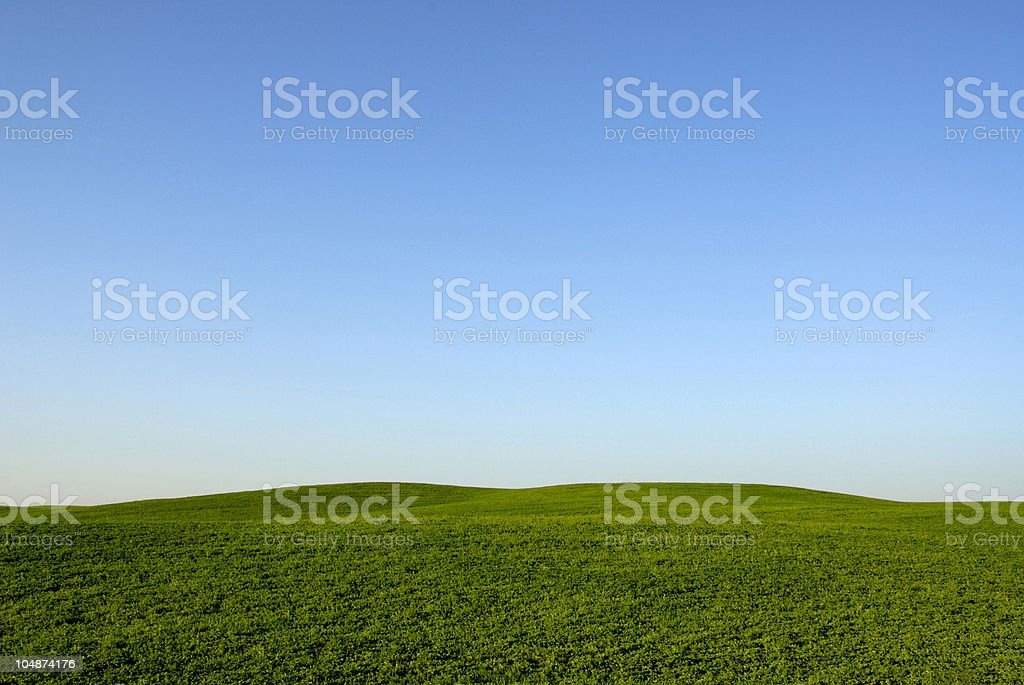 Blue Sky and Green Hills royalty-free stock photo