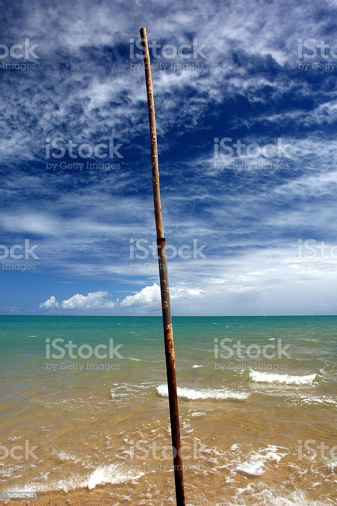 blue sky and green ocean royalty-free stock photo