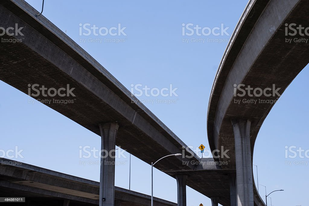 Blue sky and highway stock photo
