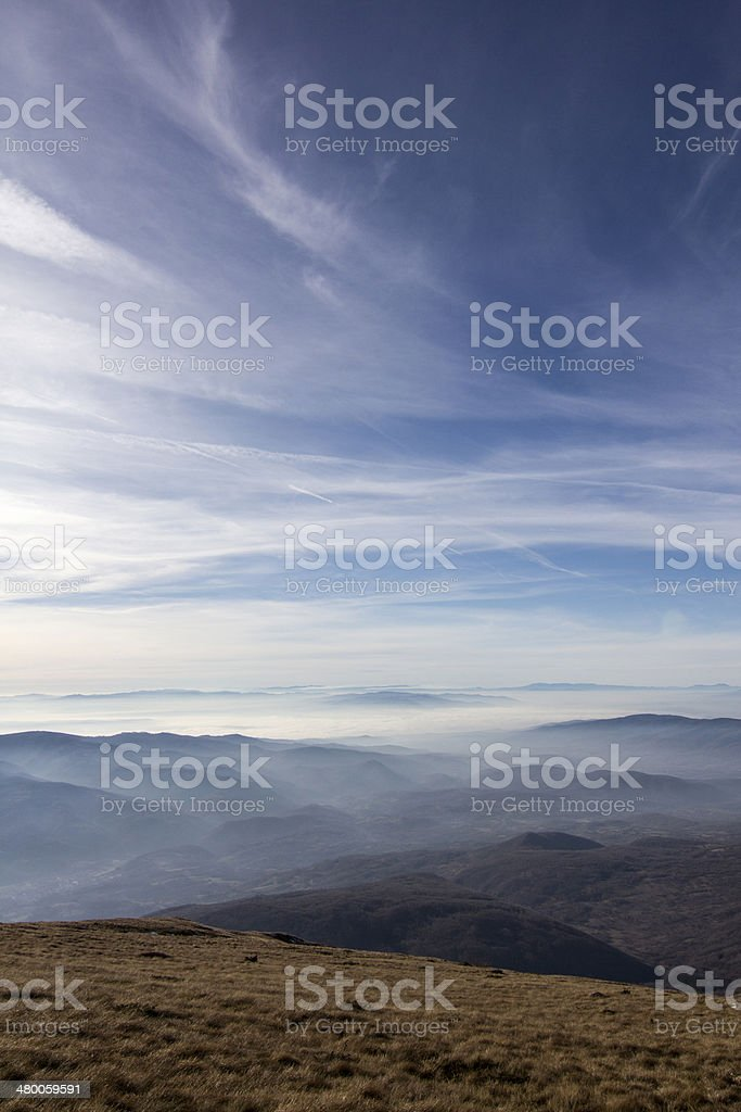 Blue sky and mountain royalty-free stock photo