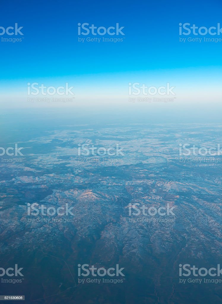 Blue Sky and Mountain stock photo