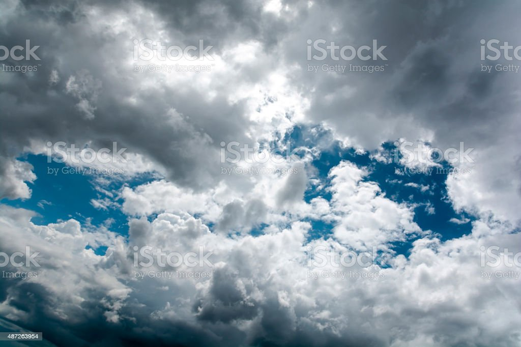 Blue sky and rain clouds royalty-free stock photo