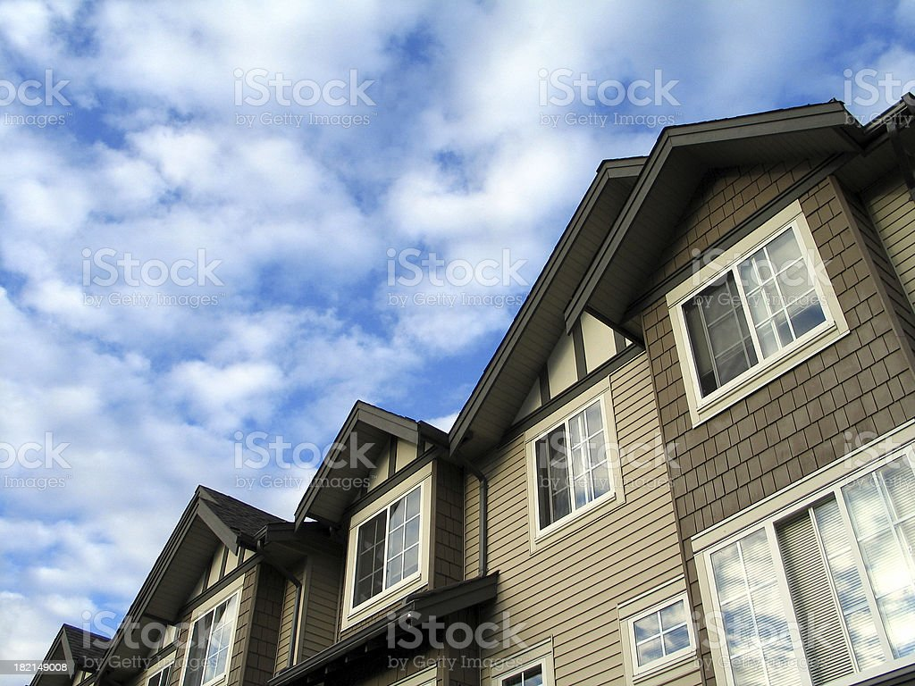 Blue Sky and Real Estate royalty-free stock photo