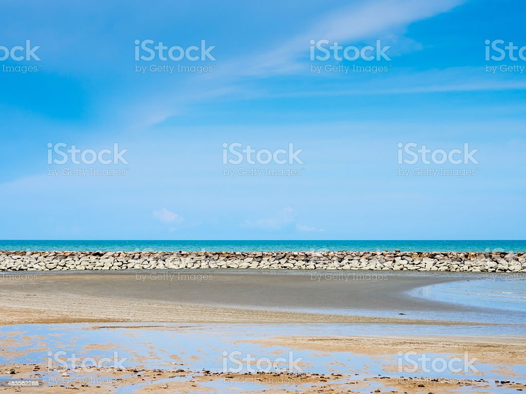 Blue sky and sea royalty-free stock photo