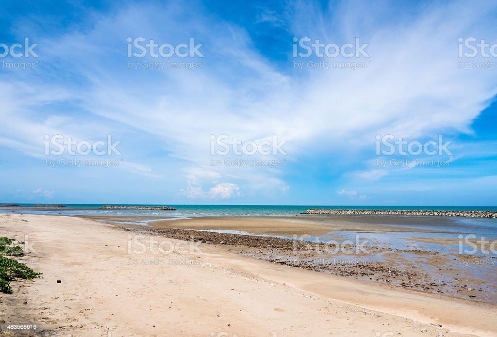 Blue sky and sea royalty-free stock photo