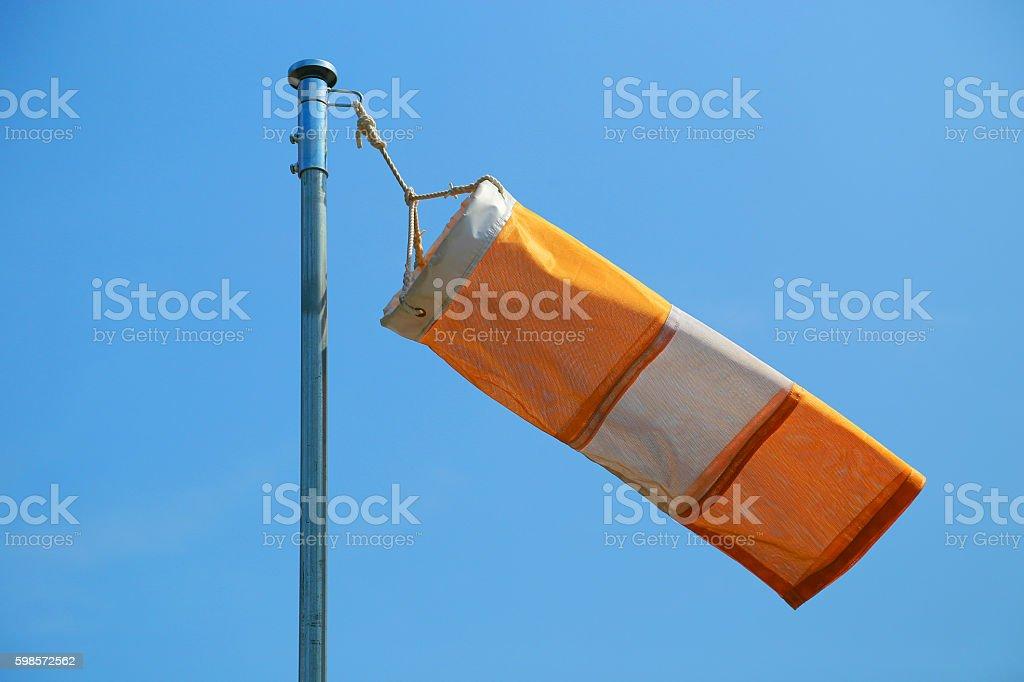 blue sky and streamer foto de stock libre de derechos