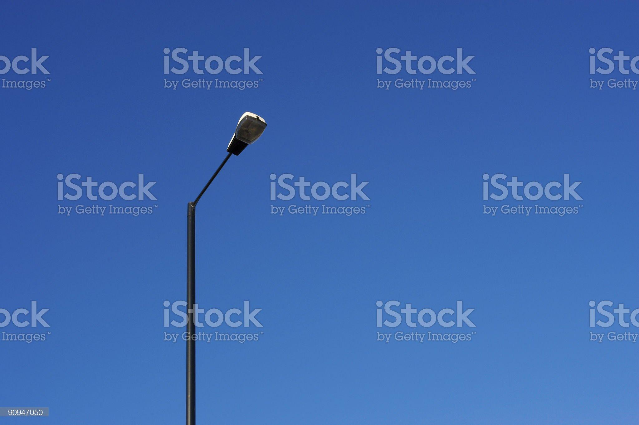Blue sky and street light royalty-free stock photo