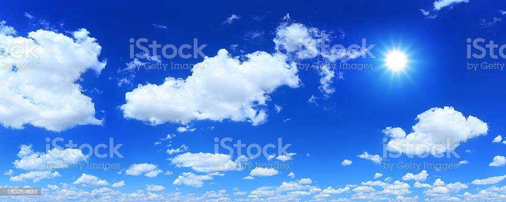 Blue Sky and Sun - panorama royalty-free stock photo