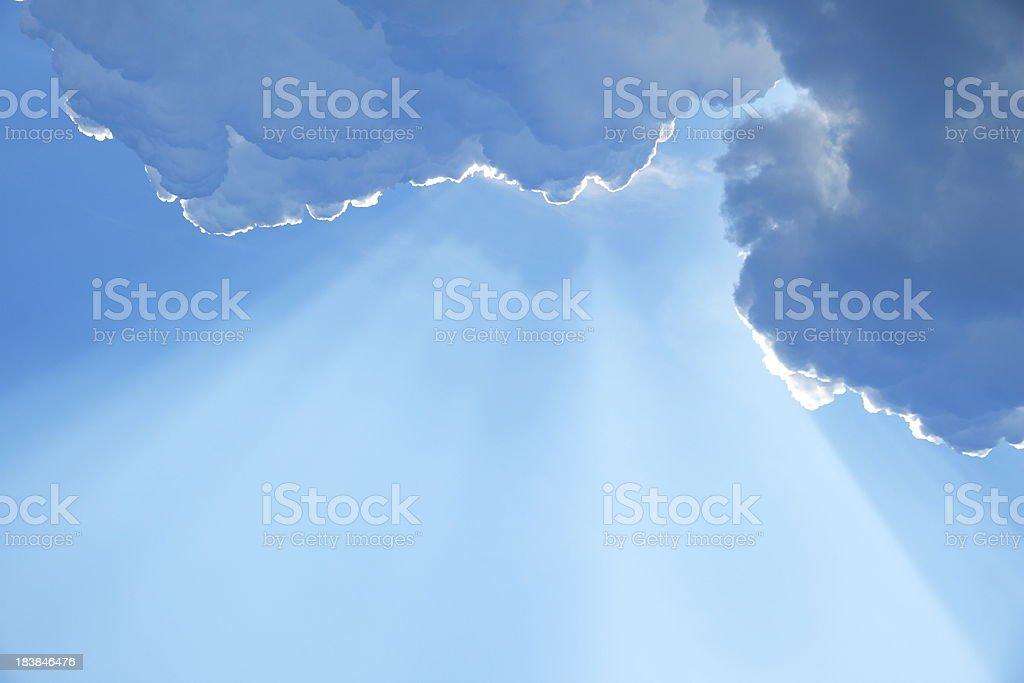 Blue Sky and Sunbeam royalty-free stock photo
