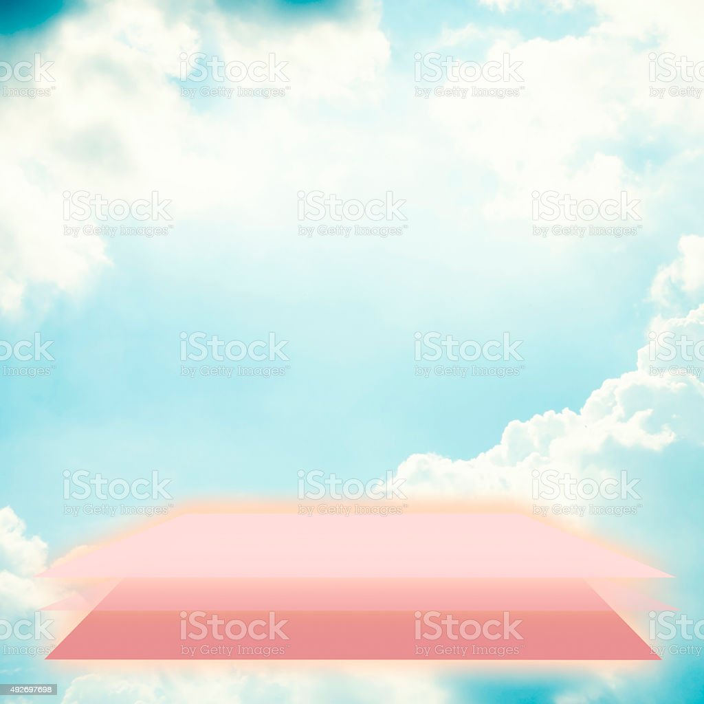 Blue sky and the base color royalty-free stock photo