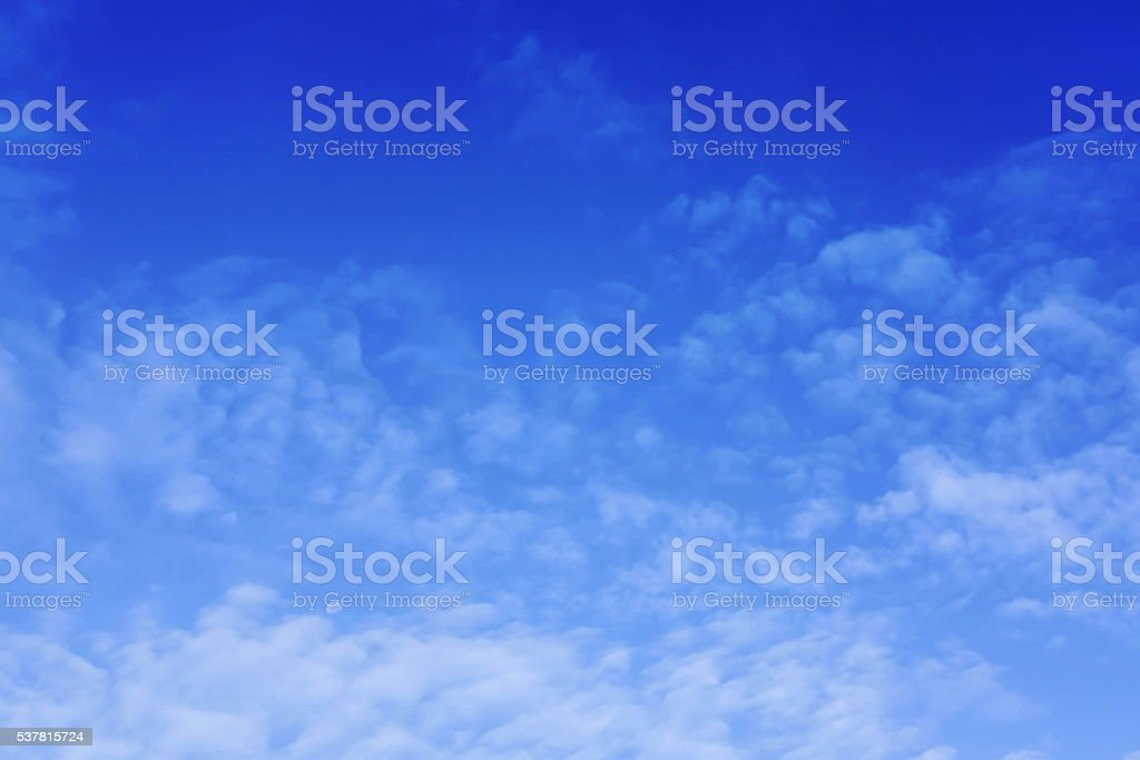 Blue sky and white cloud , and moon stock photo