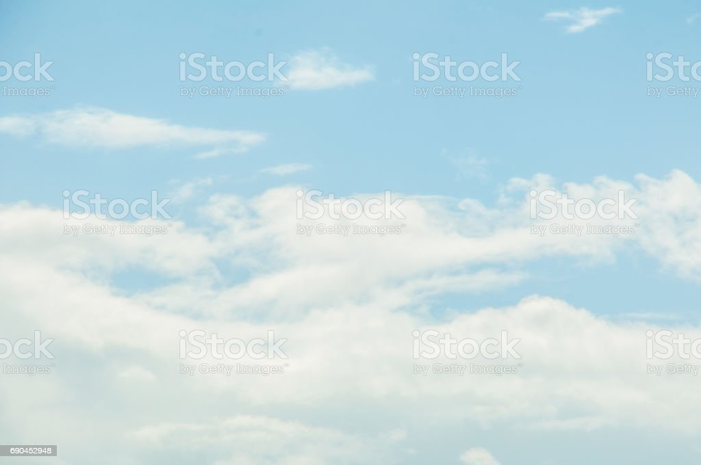 BLue sky and White cloud: clear blue sky with plain white cloud stock photo