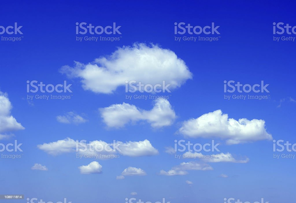 Blue sky and white clouds (XXXL) royalty-free stock photo