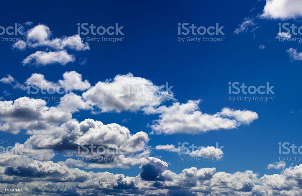 Blue sky and white clouds (XXL) royalty-free stock photo
