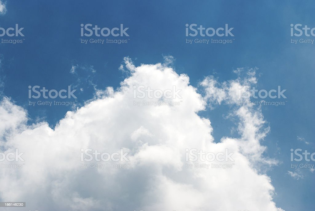 Blue sky and white clouds stock photo