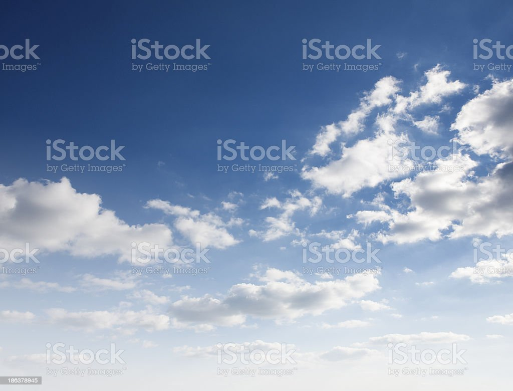 Blue sky and white clouds royalty-free stock photo