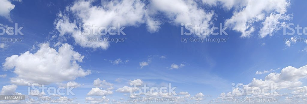 Blue sky and white clouds, SCROLL DOWN for more stock photo
