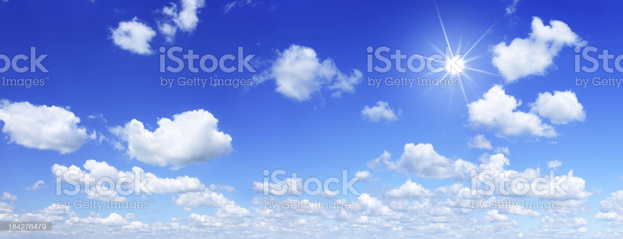 Blue sky and white clouds, SCROLL DOWN for more royalty-free stock photo