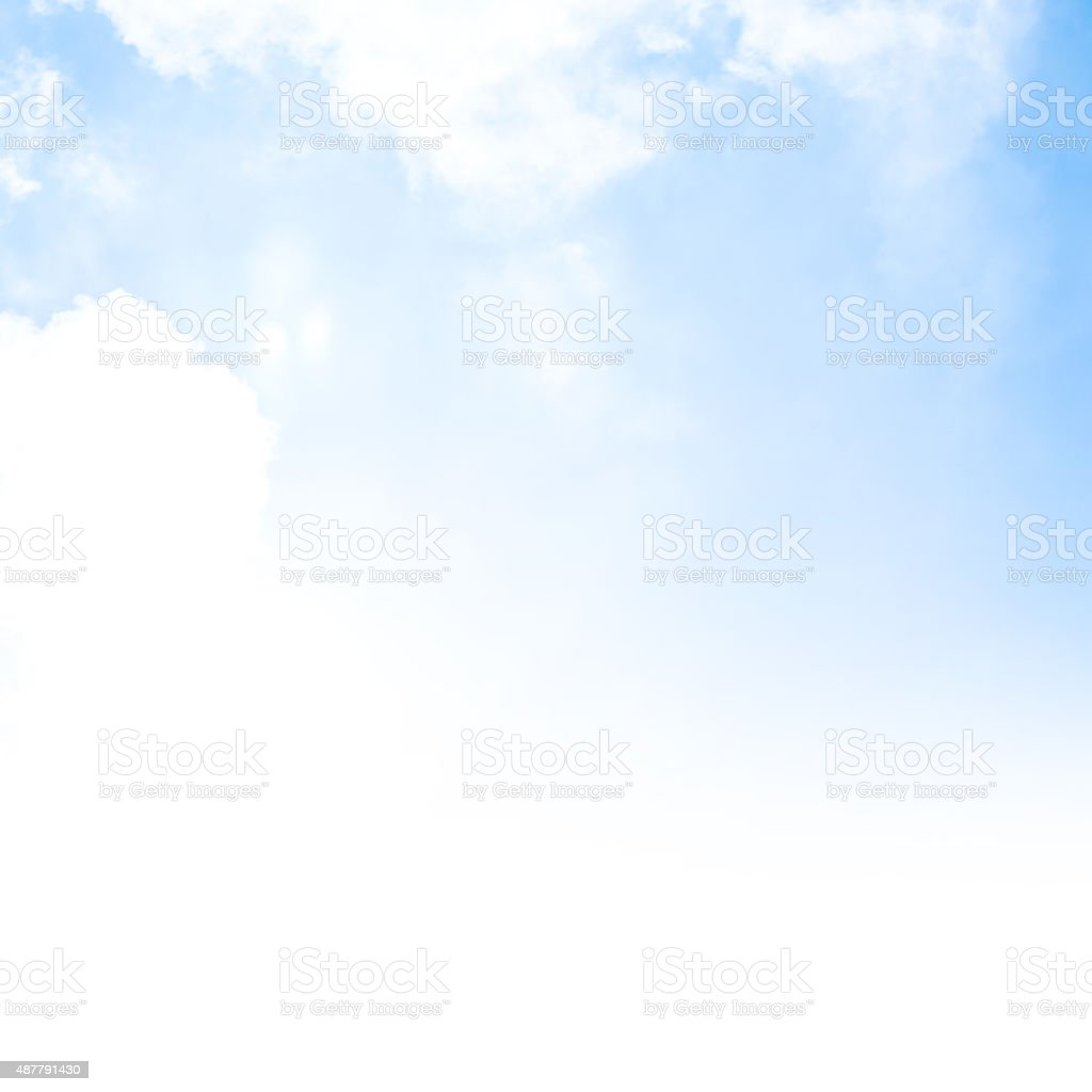 Blue sky background border stock photo