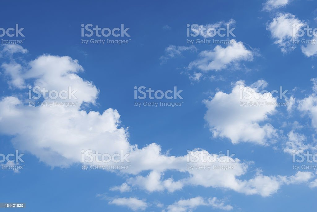 Blue sky background with clouds royalty-free stock photo